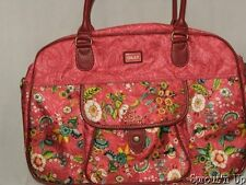OILILY floral bag purse laptop computer satchel shoulder strap PINK EEUC