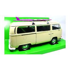 1972 VOLKSWAGEN T2 VW Bus With Sufboard Surfbrett beige 1 24 Welly
