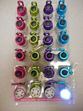 Display Of 24 Lady Nugget Keychain Led Lights Assorted Colors