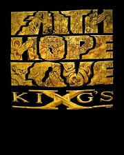 KINGS X cd cvr FAITH HOPE LOVE Official SHIRT LRG New may the groove be with you
