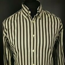 Tommy Hilfiger Mens Vintage Shirt MEDIUM Long Sleeve Regular Fit HEAVY COTTON