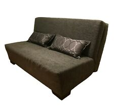 GREY SOFA BED with MATCHING PILLOWS