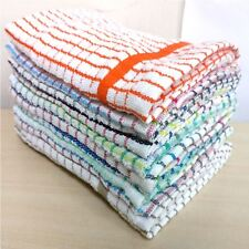Pack of 10 Assorted Large Multi Terry Cotton Tea Towels Set Kitchen Dish Cloths