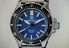 BRAND NEW DEEP BLUE DAYNIGHT.MIL T100 TRITIUM-BLUE DIAL STAINLESS STEEL.
