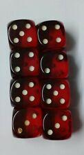Red Bakelite gaming Dice set