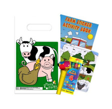 Filled Farm Themed Children's Farm Animal Party Bags - Pack of 100