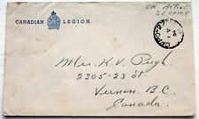 Canadian Legion Active Service Cover – With 1954 Cfpo 27 Cancel (Se4)