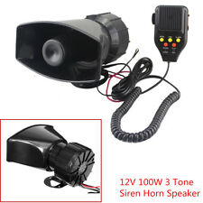 Car Truck Recording Speaker Siren/Fire/Alarm Sound 12V 100W Emergency Siren Horn