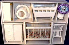 Dolls House Nursery In White 1:12 Scale 12th Scale Nursery Streets Ahead DF269