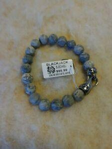 BLACKJACK Men Jewelry Genuine Brecciated Jasper Beaded Bracelet BJB244BJ
