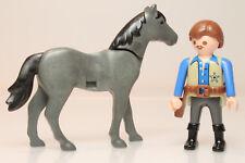 Playmobil hombre sheriff comisario oeste western caballo horse figura P282