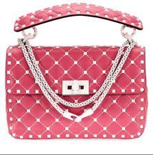 VALENTINO Rockstud Spike Med. Shoulder Bag- Shadow Pink tag&bag **LAST ITEM**