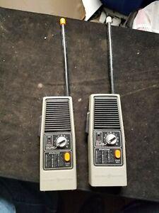 Pair of Vintage General Electric GE 3-5954A Walkie Talkies w/ Morse Code Working