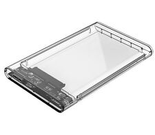 "ORICO USB 3.0 Transparent 2.5"" SATA SSD HDD Hard Disk Drive Enclosure Case"