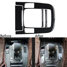 4Pcs Interior Console Gear Shift Panel Carbon Fiber Trim Cover For Audi A4 B8 A5