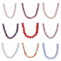 Wholesale  Loose 10mm Spacer Beads New Faceted Rondelle Crystal Glass 50Pcs