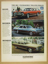 1972 Oldsmobile Cutlass Vista & Custom Cruiser Station Wagons vintage print Ad