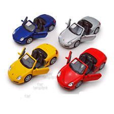 Die Cast Porsche 1:34 Scale Model Car Kinsmart Yellow, Red, Black, Navy