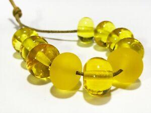 Lampwork Handmade Beads From Murano Glass 10 Pcs OOAK Tamara Yarilo Brand