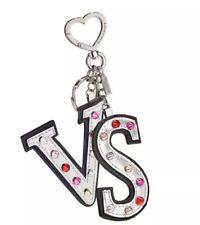 VICTORIA'S SECRET Rock Envy Studded KEYCHAIN Key Fob Metallic Silver Bag Charm