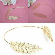 Crown For Women Laurel Band Hair Plated Gold Headband Hairpin Leaf Headwear