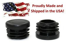 "Black 1"" Round Tubing Plastic Hole Plug End Cap, 1 Inch OD Tube Pipe Cover"