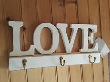 Wood LOVE Letters Wall Hooks Home Decor / Wedding Display / Valentines Day