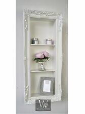 "L'edge White Shabby Chic Rectangle Vintage Frame Shelf 18"" x 42"" Large"