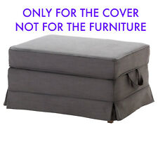 Ikea Ektorp Footstool Ottoman SlipCover SVANBY GRAY 901.751.75 Cover New
