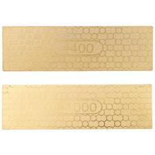 400/1000 Grit Diamond Whetstone Knife Sharpening Stone Grindstone Two Sides M1W5