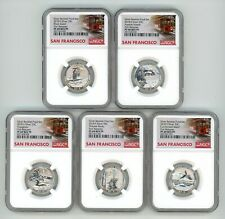 2018 S SILVER QUARTERS 25C SET REVERSE PROOF NGC PF69 FIRST RELEASES 4871662-082