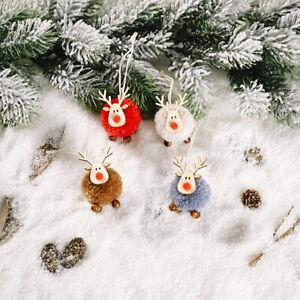 Christmas Elk Star Tree Pendant New Year Xmas Hanging Ornament DIY Decoration