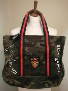 Polo Ralph Lauren Camouflage Cotton Canvas Rugby Tote Bag BAG