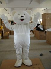 Halloween Polar Bear Mascot Costume Cosplay Party Clothing Carnival Adults