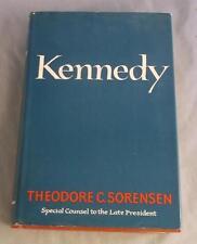 KENNEDY BY THEODORE C. SORENSEN 1965 STATED FIRST EDITION DJ
