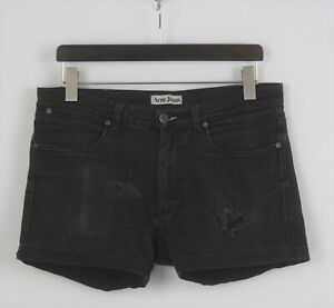 ACNE JEANS MAX CASH Men's W34 Stretchy Ripped Distressed Denim Shorts 26322_JS