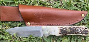PUMA SGB WHITE HUNTER  STAG HANDLE HUNTING KNIFE ( Mule Deer)