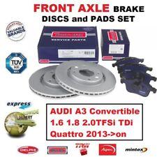 Für Audi A3 Cabrio 1.6 1.8 2.0TFSi Tdi 2013- > nach Vordere Bremsbeläge +