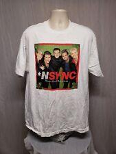NSYNC Home for Christmas Adult White XL TShirt Justin Lance Chris Joey JC