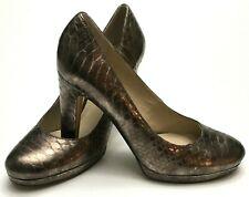 FRANCO SARTO BAROQUE Women's Size 7.5 Pump Copper Snake Print