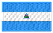 Flag Nicaragua Bandera de Nicaragua Parche bordado Thermo-Adhesivo ironon patch
