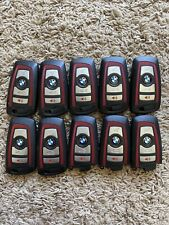 LOT OF 10 BMW RED SMART KEY REMOTE FOB FCC: YGOHUF5767 (4-BUTTON) GOOD!