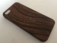 Apple Iphone 5 5S cover case protective hard back wood grain wooden oak brown