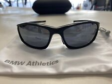New BMW M Athletics Wrapper Sunglasses Retail $200 with BMW Hard Case & Pouch