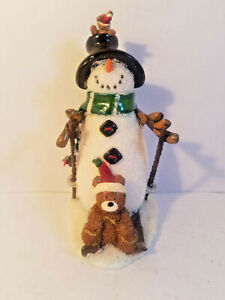 Misc Adorable Snow Sking Christmas Figurines - YOU CHOOSE - PreOwned