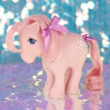 Vintage My Little Pony COTTON CANDY Pink White Polka Dots Concave G1 MLP BC490