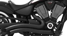 Freedom MV00012 Sharp Curve Radius Exhaust System Black Victory Gunner 06-17