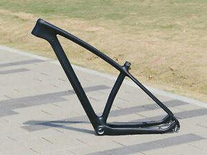 "Toray Carbon Matt 29ER Mountain Bike Bicycle MTB Frame 15"" Axle 142mm QR 135mm"