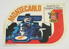 ADESIVO AUTO F1 anni '80 / Old Sticker MONTECARLO MONACO (cm 14 x 10)