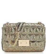 Michael Kors Sloan Large Quilted Leather Gold & Black Chain Shoulder Handbag NWT